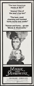 "Movie Posters:Comedy, Minnie and Moskowitz & Others Lot (Universal, 1971). Inserts (3) (14"" X 36""). Comedy.. ... (Total: 3 Items)"