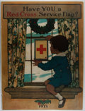 Art:Illustration Art - Mainstream, [Poster]. Jessie Wilcox Smith. Have YOU a Red Cross ServiceFlag? Modern reprint. 21 x 28 inches, loosely. Shrink wr...