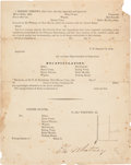 Autographs:Military Figures, Eli Whitney Jr. Arms Inspection Document Signed....