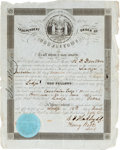 Autographs:Military Figures, [Independent Order of Odd Fellows]. Membership Certificate of R. D.Denton....