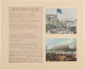 "Miscellaneous:Broadside, [Mexican War]. Manuscript Song: ""The Indian Maid of theChapperall,"" circa 1847. ..."