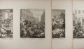 Art:Illustration Art - Mainstream, William Hogarth (1697-1764). Group of Four Engraved Prints. The Stages of Cruelty. Nd. Mild toning to edges. Minor a...