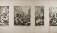 William Hogarth (1697-1764). Group of Four Engraved Prints. The Stages of Cruelty. Nd. Mild ton