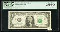 Error Notes:Foldovers, Fr. 1931-L $1 2003A Federal Reserve Pre-Print Foldover Error Note. PCGS Very Fine 25PPQ.. ...