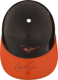 Baseball Collectibles:Hats, Cal Ripken Jr. Signed Baltimore Orioles Helmet....