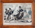 Miscellaneous:Ephemera, [J. Baillie]. Major Ringgold Mortally Wounded Lithographic Print,1846....