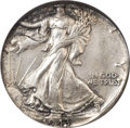Errors, 1943(-?) 50C Walking Liberty Half -- Struck on a Quarter Planchet-- MS64 NGC....