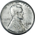 Lincoln Cents, 1944 1C -- Struck on a Zinc-Coated Steel Planchet -- AU58 PCGS....