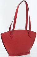 Luxury Accessories:Bags, Louis Vuitton Red Epi Leather Saint Jacques PM Shoulder Bag. ...