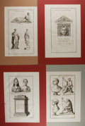 Art:Illustration Art - Mainstream, [Engraving]. Group of Four Original Engravings. N.d. Tipped in andmatted. Binding marks to one edge. Light thumbsoiling and...