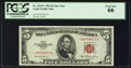 Small Size:Legal Tender Notes, Fr. 1532* $5 1953 Legal Tender Star Note. PCGS Gem New 66.. ...