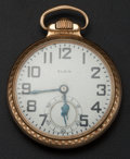 Timepieces:Pocket (post 1900), Elgin - 21 Jewel B.W. Raymond Pocket Watch. ...