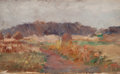 American:Regional, AMERICAN SCHOOL (Late 19th/Early 20th Century). Landscape(double-sided). Oil on board. 4-1/2 x 7-1/2 inches (11.4 x19....