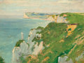 Fine Art - Painting, European, FRENCH SCHOOL (Late 19th/Early 20th Century). Le Falaise deFécamp. Oil on board. 9 x 13 inches (22.9 x 33.0 cm). Bears ...