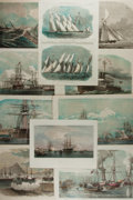 Art:Illustration Art - Mainstream, [The Illustrated London News]. Group of Ten NauticalEngravings, ca. 1850's and 1860's. Toning and small tears t...