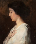 Paintings, VESPER LINCOLN GEORGE (American, 1865-1934). Portrait of a Woman. Oil on canvas. 18 x 15 inches (45.7 x 38.1 cm). Signed...