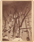 Photography:Cabinet Photos, Texas-Indian War Trophies Cabinet Card, circa 1880....