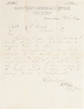 Autographs:Military Figures, Wilburn H. King Autograph Letter Signed....