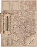 Miscellaneous:Maps, Glidden's Barb Wire Map of Texas.... (Total: 2 )