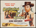 """Movie Posters:Western, Masterson of Kansas & Other Lot (Columbia, 1954). Half Sheet (22"""" X 28"""") & Insert (14"""" X 36""""). Western.. ... (Total: 2 Items)"""