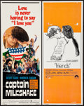 "Movie Posters:Exploitation, Captain Milkshake & Others Lot (TWI National, 1970). Inserts(4) (14"" X 36""). Exploitation.. ... (Total: 4 Items)"