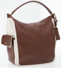 Luxury Accessories:Accessories, Yves Saint Lauren Brown Leather and Canvas Multy Hobo Shoulder Bag. ...