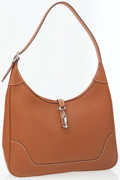 Luxury Accessories:Accessories, Hermes 31cm Gold Togo Leather Trim Bag with Palladium Hardware. ...