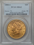Liberty Double Eagles, 1888-S $20 MS62 PCGS....