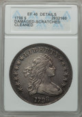 Early Dollars, 1798 $1 Large Eagle, Pointed 9 -- Damaged, Scratched, Cleaned --ANACS. XF45 Details. B-27, BB-113, R.2....