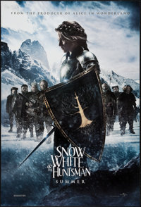 """Snow White and the Huntsman (Universal, 2012). One Sheets (3) (27"""" X 40"""") DS Advances Snow White, The Huntsman..."""