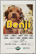 "Movie Posters:Adventure, Benji & Other Lot (Mulberry Square Releasing, 1974). One Sheets(2) (27"" X 41"") & Advertising Poster (17"" X 25.5""). Adventur...(Total: 3 Items)"