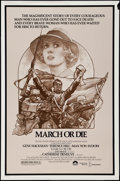 "Movie Posters:War, March or Die and Other Lot (Columbia, 1977). One Sheets (2) (27"" X41""). Sketch Style. War.. ... (Total: 2 Items)"