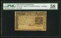 Colonial Notes:New York, New York March 5 , 1776 (Water Works) 4s PMG Choice About Unc 58.....
