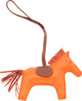 Luxury Accessories:Accessories, Hermes Orange H & Fauve Swift Leather Rodeo Horse Charm. ...