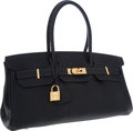 Luxury Accessories:Bags, Hermes Indigo Clemence Leather JPG II Shoulder Birkin Bag with GoldHardware. ...