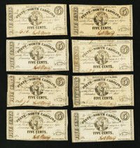 Raleigh, NC- The State of North Carolina 5¢ Jan. 1, 1863 Cr. 148 A-U Plate Letter Set