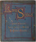Books:Literature Pre-1900, Louisa Marchioness of Waterford. Life Songs: Illustrated andIlluminated by Louisa Marchioness of Waterford & TheCounte...