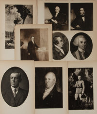 [Illustration]. Group of Seven Lithographs. 8 x 5 inches. Originally illustrations from a text. Includes portraits of