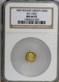 California Fractional Gold, 1859 50C BG-1002 MS66PL NGC. (#710831)...