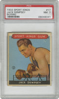 Boxing Cards:General, 1933 Goudey Sport Kings Jack Dempsey #17 PSA NM 7. Near Mint cardfrom the all-important 1933 Goudey Sport Kings issue. Na...