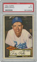 Baseball Cards:Singles (1950-1959), 1952 Topps Andy Pafko #1 PSA VG-EX 4. Brilliant #1 card from thepopular 1952 Topps issue features the long-time Dodgers out...