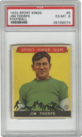 Football Cards:Singles (Pre-1950), 1933 Goudey Sport Kings Football Jim Thorpe #6 PSA EX-MT 6. StrongPSA 6 example of the incredible athlete Jim Thorpe as po...