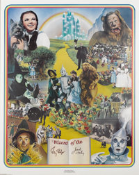 "Jack Haley and Ray Bolger Signed ""Wizard of Oz"" Poster (Nostalgia Merchant, 1977). A limited edition 24""..."