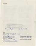 Autographs:Others, 1988 Gary Sheffield Signed Player's Contract. A nineteen-year oldGary Sheffield applied ink to this player's contract in 1...