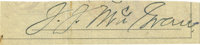 John J. McGraw Signature Cut. An astute batsman with a keen eye, the third baseman is best known and remembered as a maj...