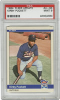 Baseball Cards:Singles (1970-Now), 1984 Fleer Update Kirby Puckett #U-93 PSA Mint 9. Rookie entry fromthe deceased Hall of Famer Kirby Puckett comes to us via...
