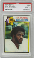 Football Cards:Singles (1970-Now), 1979 Topps Earl Campbell #390 PSA Mint 9. Rookie entry from theTyler Rose comes to us by way of the 1979 Topps football is...