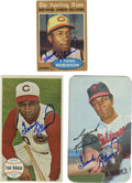 Autographs:Sports Cards, Frank Robinson Autographed Cards Lot of 3. Accolades andaccomplishments are numerous for this Hall of Famer. He was thefi...