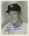 Autographs:Photos, Mickey Mantle Signed Photograph. Black and white 8x10 photograph ofMickey Mantle, adorned with his distinct signature in b...