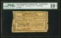 Colonial Notes:New Hampshire, New Hampshire November 3, 1775 40s Counterfeit PMG Very Good 10Net.. ...